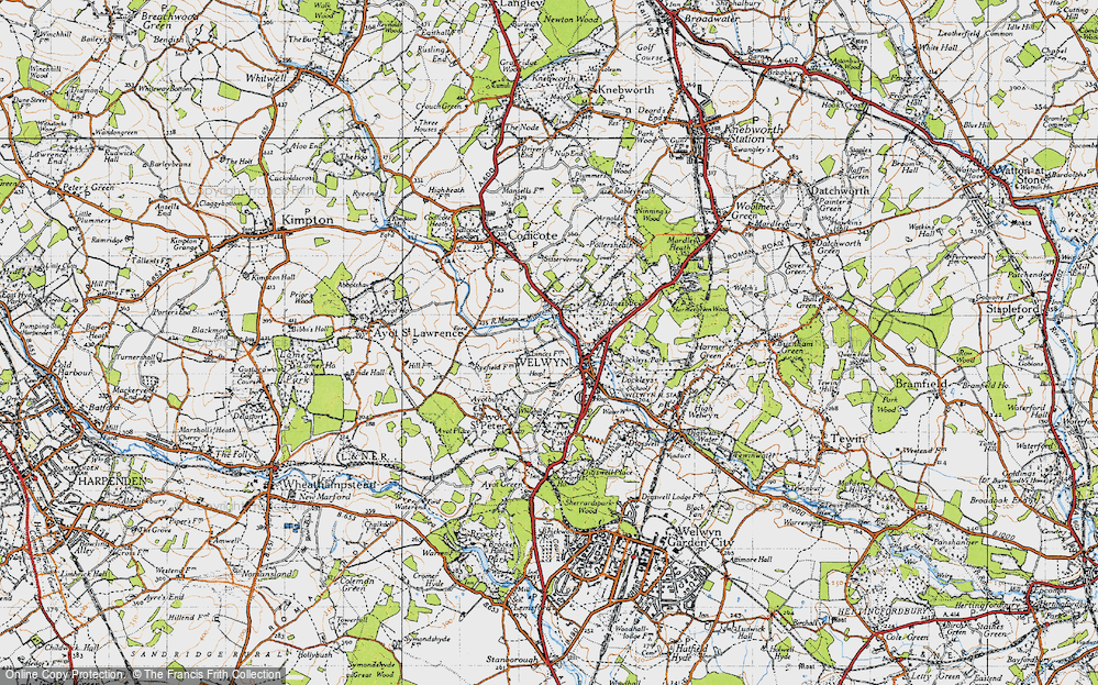 Old Map of Welwyn, 1946 in 1946