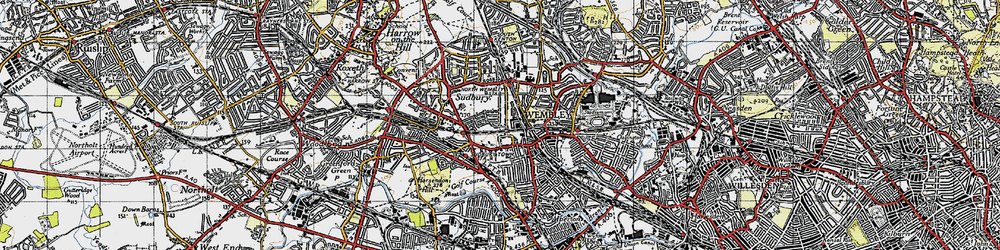Old map of Wembley in 1945