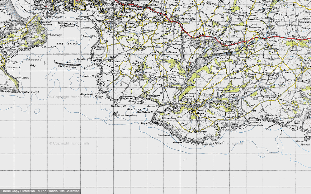 Map South Of France Coast.Old Maps Of South Devon Coast Path Francis Frith