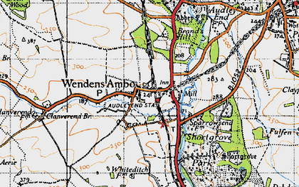 Old map of Audley End Sta in 1946