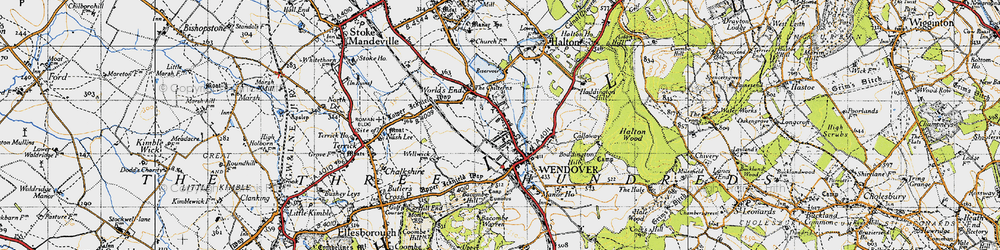 Old map of Wendover in 1946