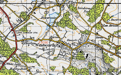 Old map of Wentworth in 1947
