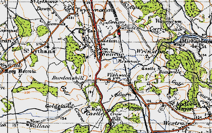 Old map of Wenvoe in 1947