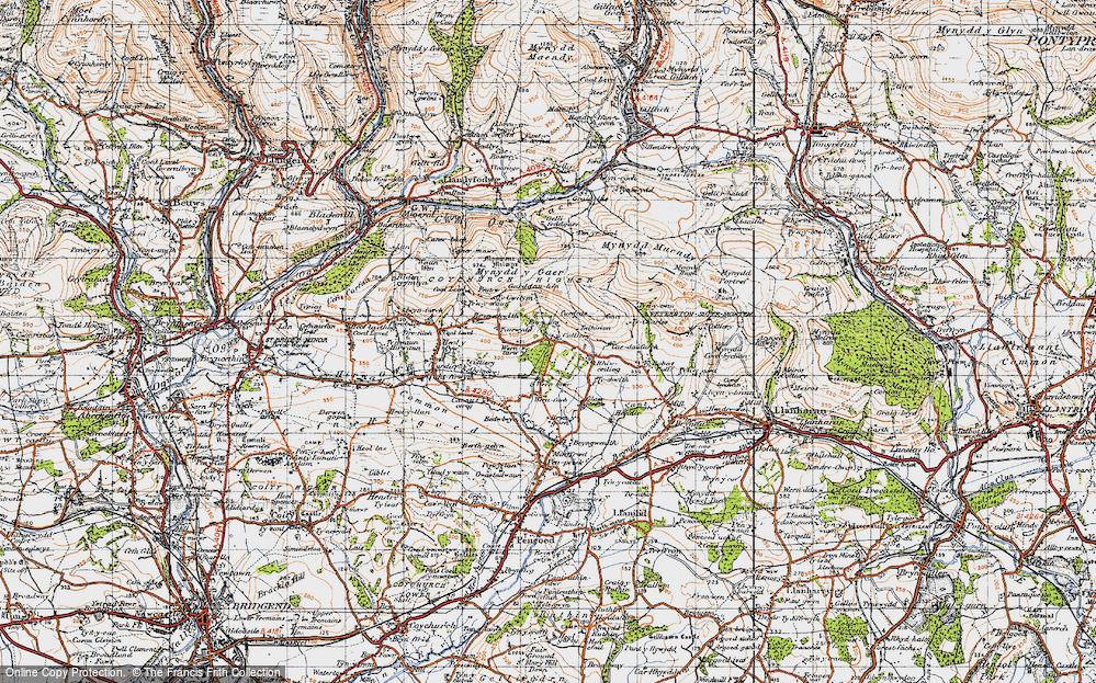 Old Map of Wern Tarw, 1947 in 1947
