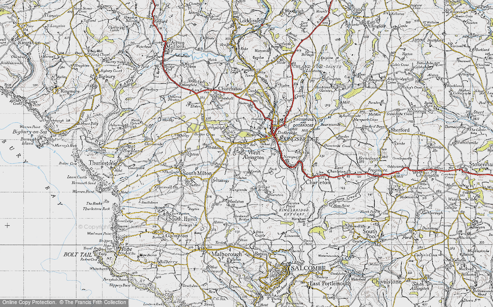 Old Map of Historic Map covering Auton in 1946