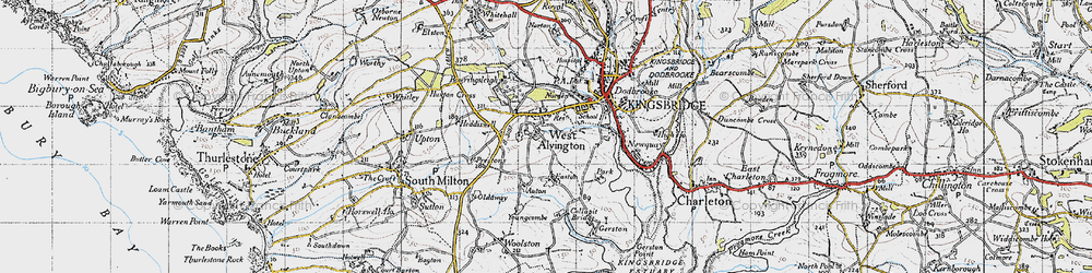 Old map of Youngcombe in 1946