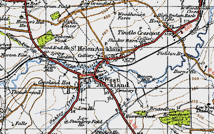 Old map of West Auckland in 1947
