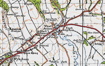 Old map of West Ayton in 1947