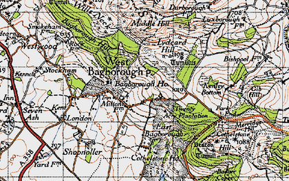 Old map of West Bagborough in 1946