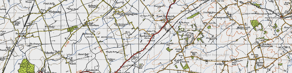 Old map of West Torrington Grange in 1946