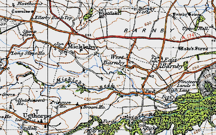Old map of Alder Park in 1947