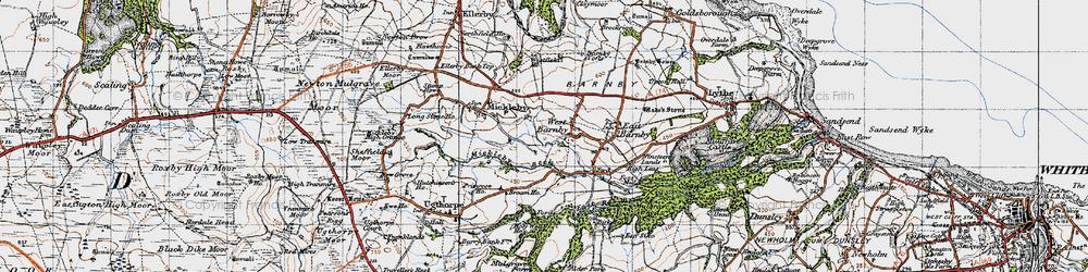 Old map of Alder Park in 1947