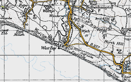 Old map of West Bay in 1945