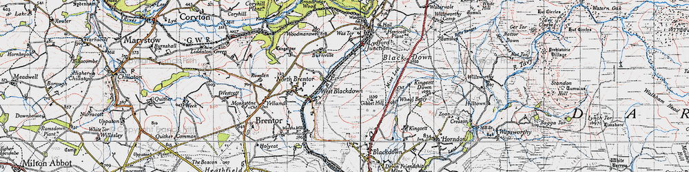 Old map of Wheal Betsy in 1946