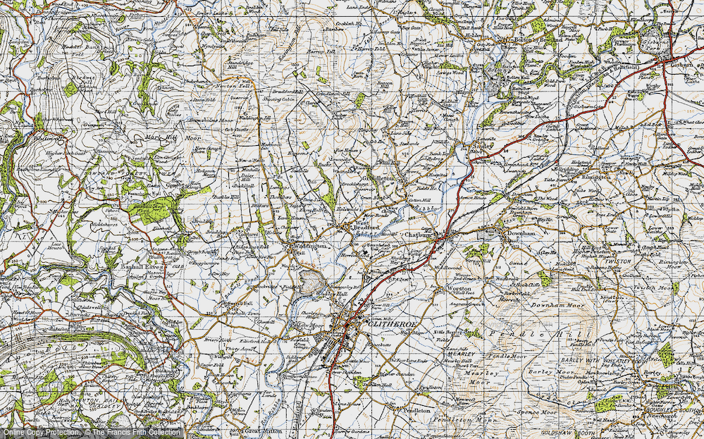 Old Map of West Bradford, 1947 in 1947