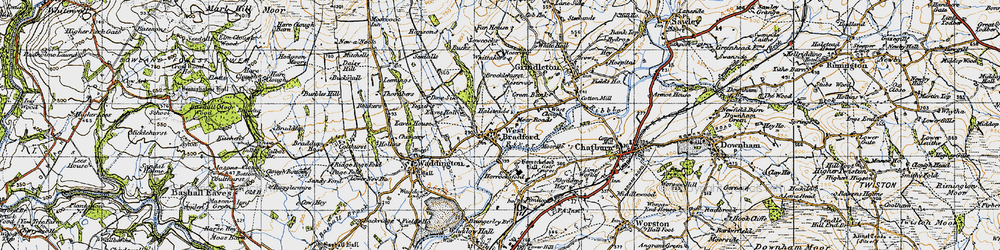 Old map of Whittakers in 1947