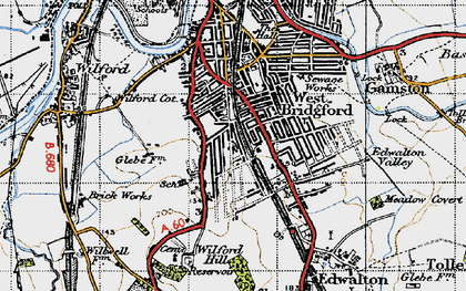 Old map of West Bridgford in 1946