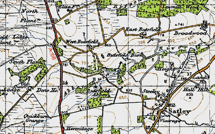 Old map of Wheatley Grange in 1947