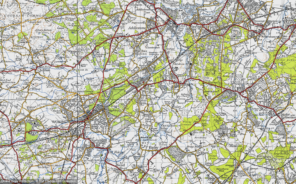 Old Map of West Byfleet, 1940 in 1940