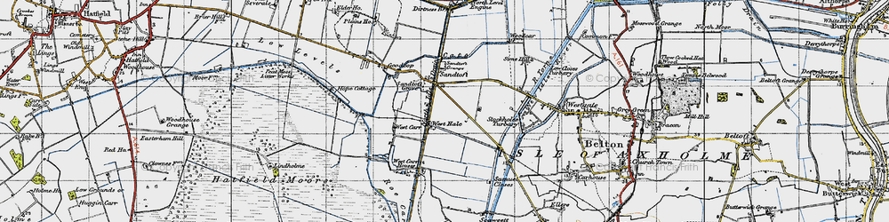 Old map of Lindholme Grange in 1947