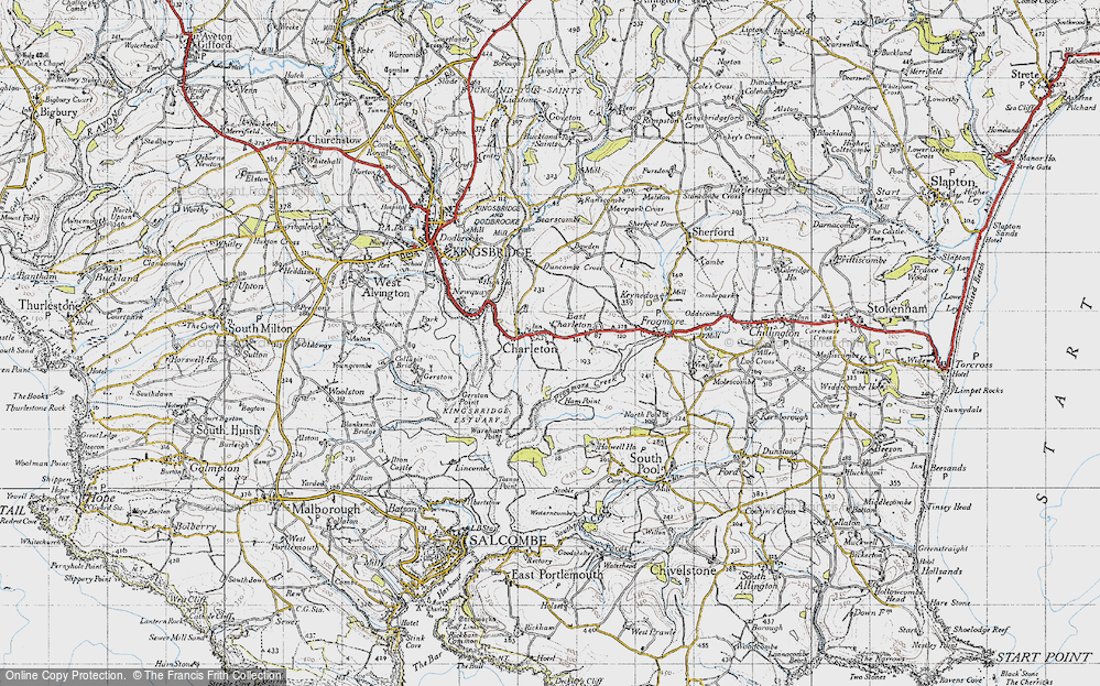 Old Map of West Charleton, 1946 in 1946