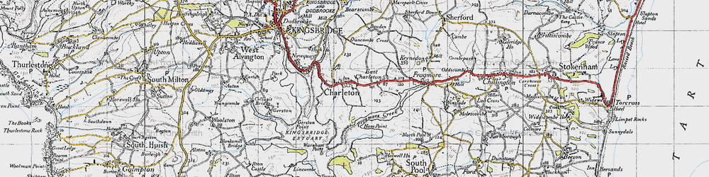Old map of West Charleton in 1946