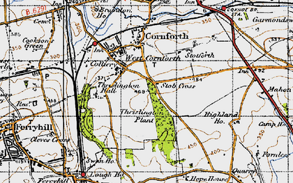 Old map of West Cornforth in 1947
