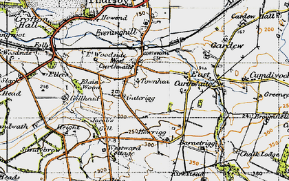 Old map of West Curthwaite in 1947