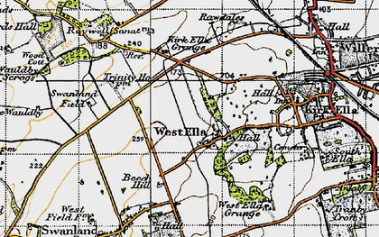 Old map of Westwinds in 1947