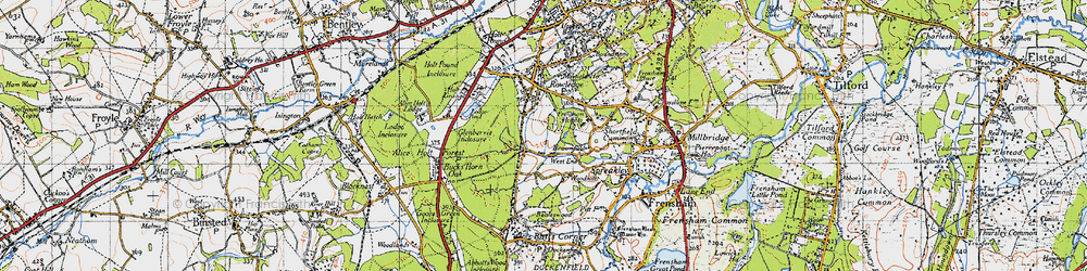 Old map of Woodhill in 1940