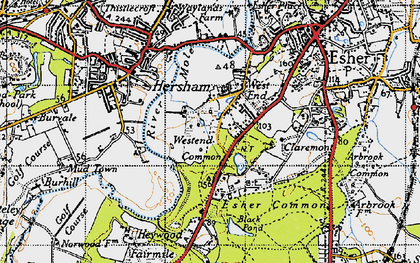 Old map of West End in 1945