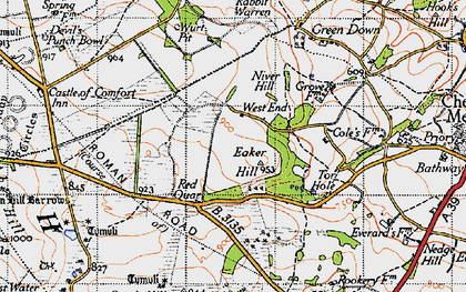 Old map of Wurt Pit in 1946