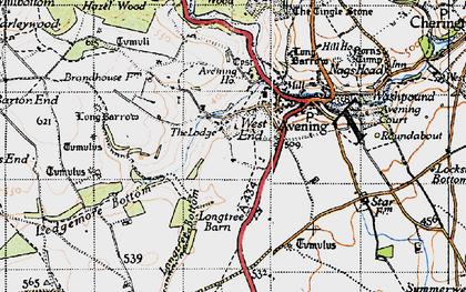 Old map of Avening Park in 1946