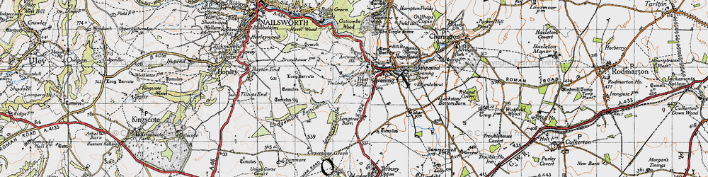 Old map of Westfield Barn in 1946