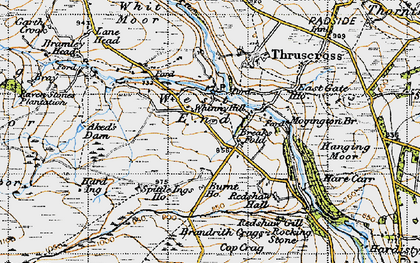 Old map of Windy Hill Ho in 1947