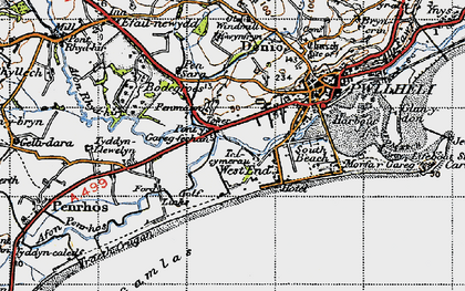 Old map of West End in 1947