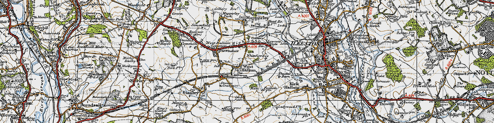 Old map of Whitefurrows in 1946