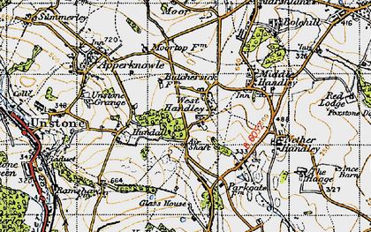 Old map of West Handley in 1947