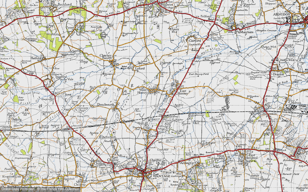 Old Map of West Hanney, 1947 in 1947