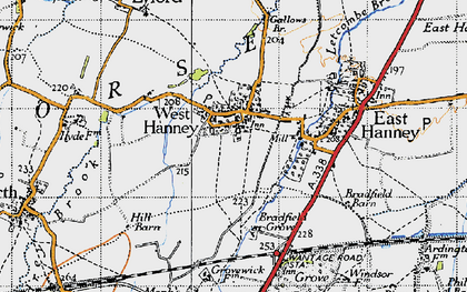 Old map of West Hanney in 1947