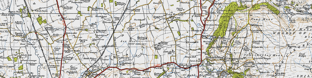 Old map of Winton Beck in 1947