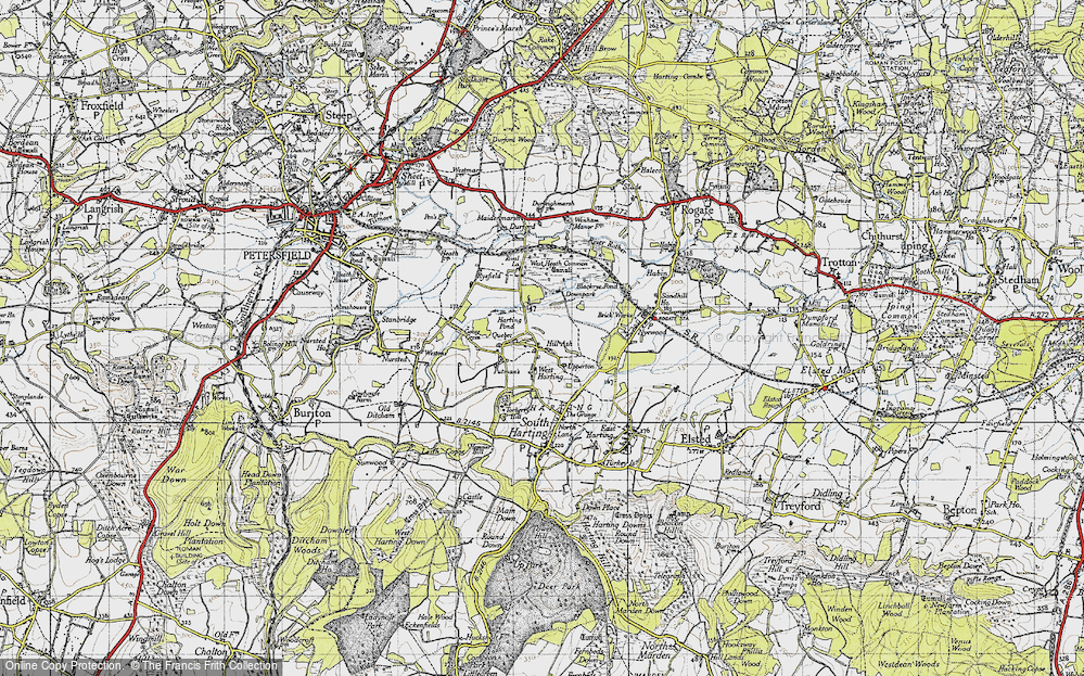 Old Map of West Harting, 1945 in 1945