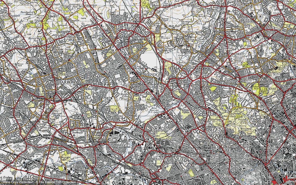 Old Map of West Hendon, 1945 in 1945