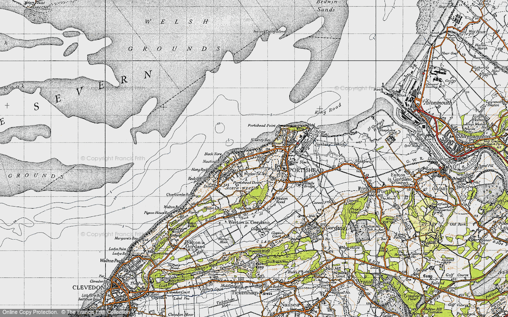 Old Map of West Hill, 1946 in 1946
