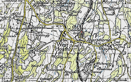 Old map of West Hoathly in 1940