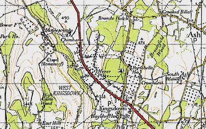 Old map of West Kingsdown in 1946