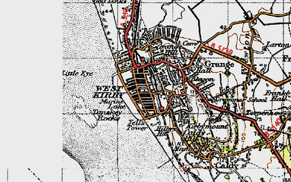 Old map of Lime Wharf in 1947