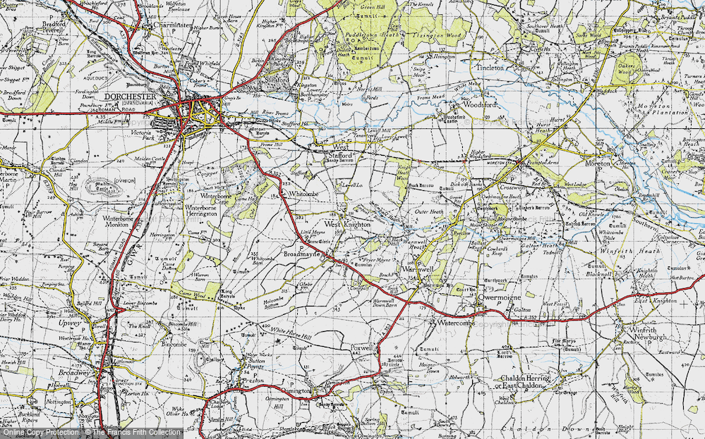 Old Map of Historic Map covering Lewell Lodge in 1945