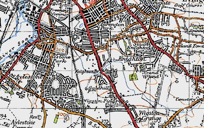 Old map of West Knighton in 1946