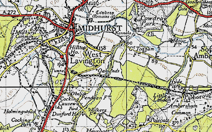 Old map of West Lavington in 1940